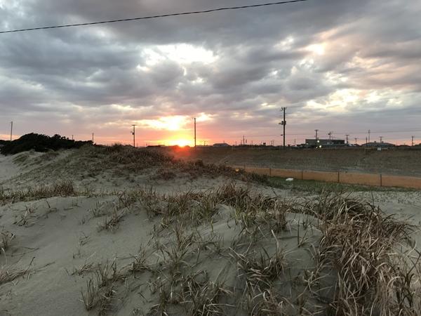 片貝の夕日