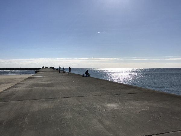 片貝漁港、片貝堤防での釣り