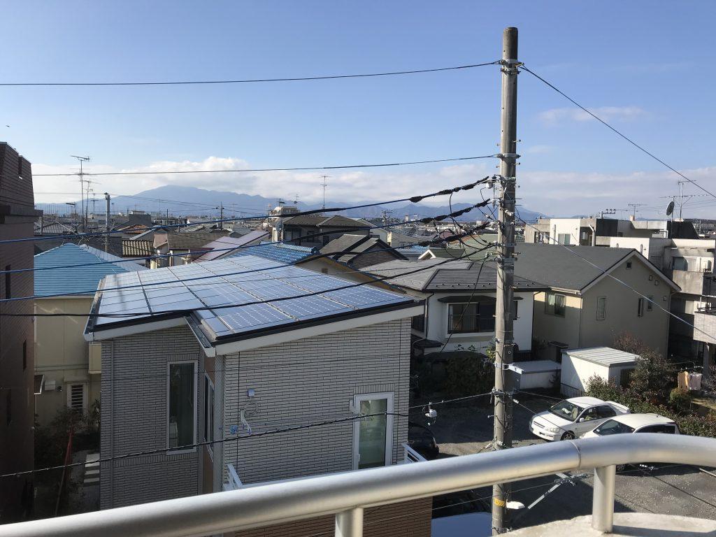 小田急相模原の賃貸マンション3階からの眺望